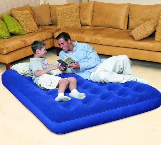 bestway doppel velour luftbett g stebett luftmatratze neu ebay. Black Bedroom Furniture Sets. Home Design Ideas