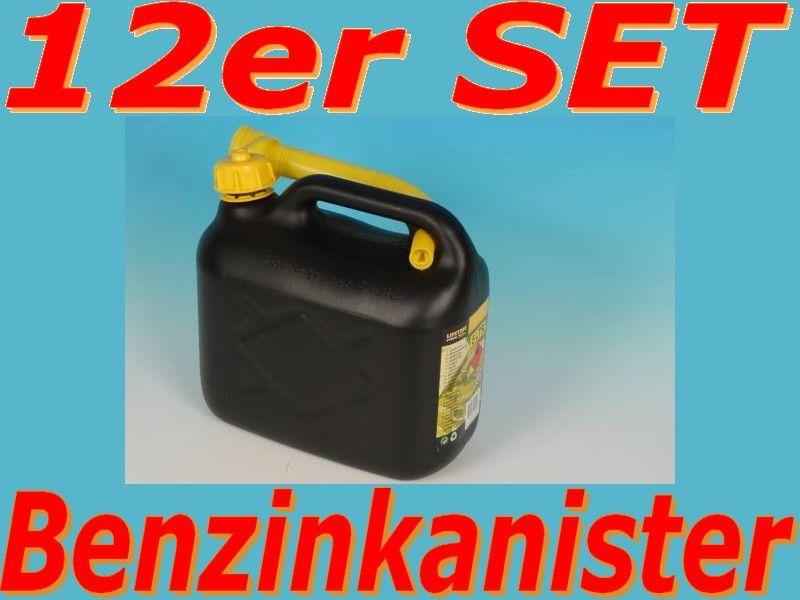 12x benzinkanister 5 liter benzin kanister set kraftstoffkanister ebay. Black Bedroom Furniture Sets. Home Design Ideas