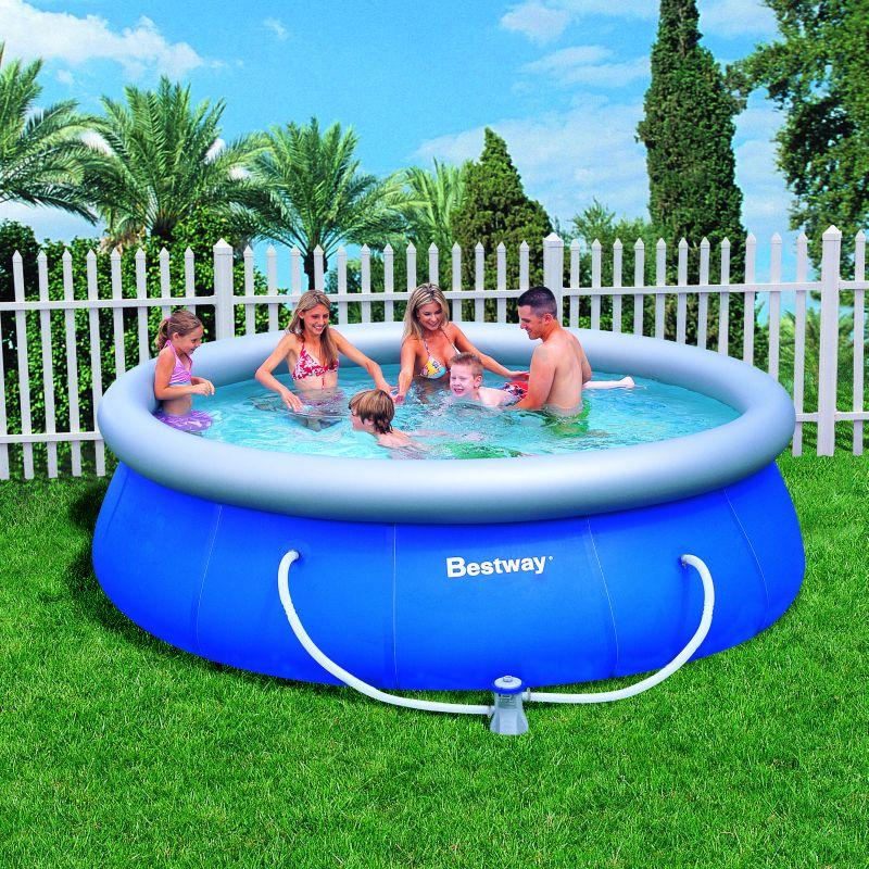 bestway schwimmbecken fast set pool mit pumpe 366 x 91 cm ebay. Black Bedroom Furniture Sets. Home Design Ideas