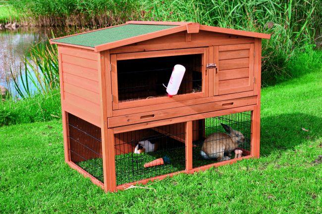 trixie kaninchenstall mit freigehege 123x96x76 cm 62321 ebay. Black Bedroom Furniture Sets. Home Design Ideas