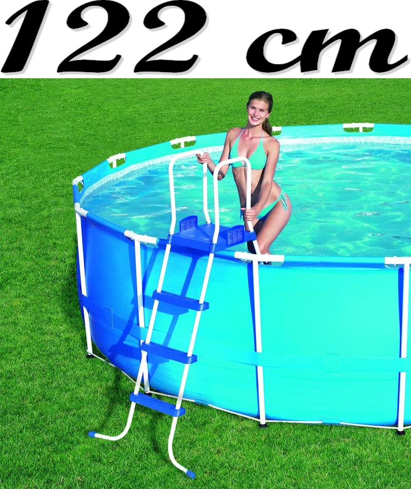 bestway pool leiter 122 cm poolleiter f quick up pool frame pool swimmingpool ebay. Black Bedroom Furniture Sets. Home Design Ideas