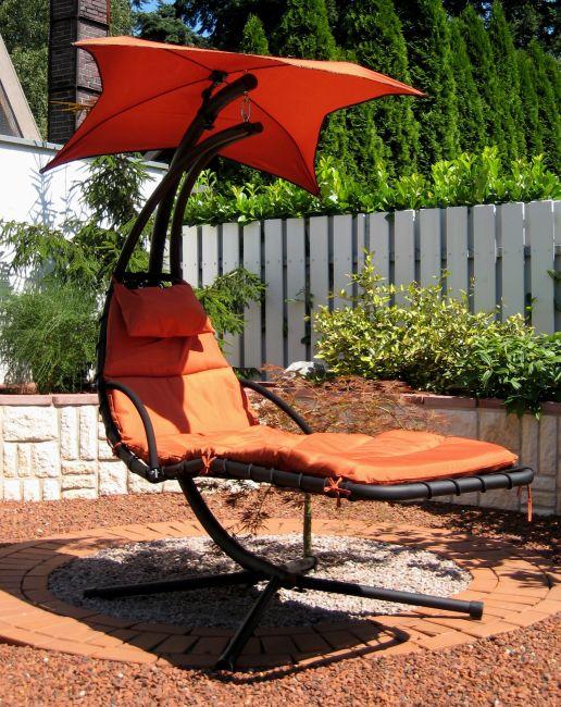 leco schwingliege liege gartenliege terracotta 36000115 ebay. Black Bedroom Furniture Sets. Home Design Ideas