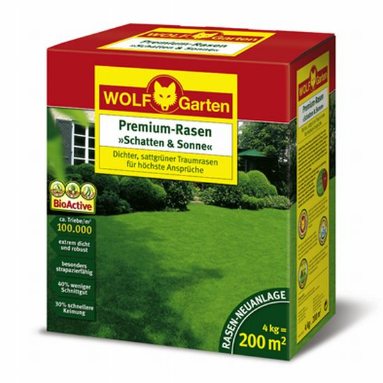 wolf premium rasen schatten sonne schattenrasen lp200 4 kg. Black Bedroom Furniture Sets. Home Design Ideas
