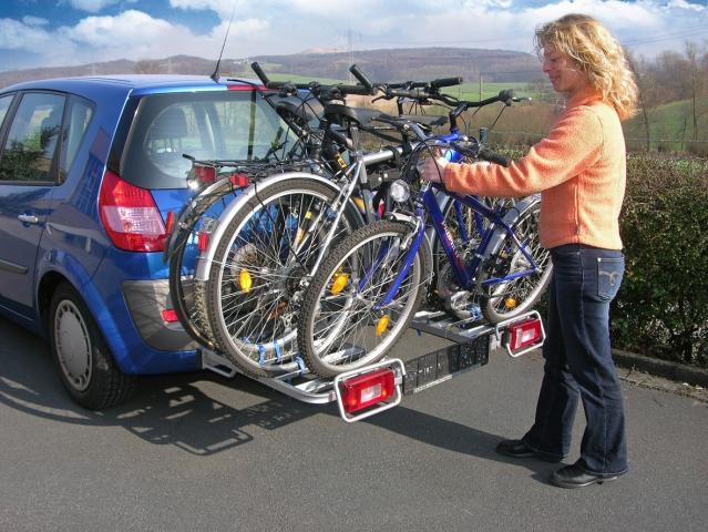 eufab fahrradtr ger bike four f r ahk 4 fahrr der neu ebay. Black Bedroom Furniture Sets. Home Design Ideas