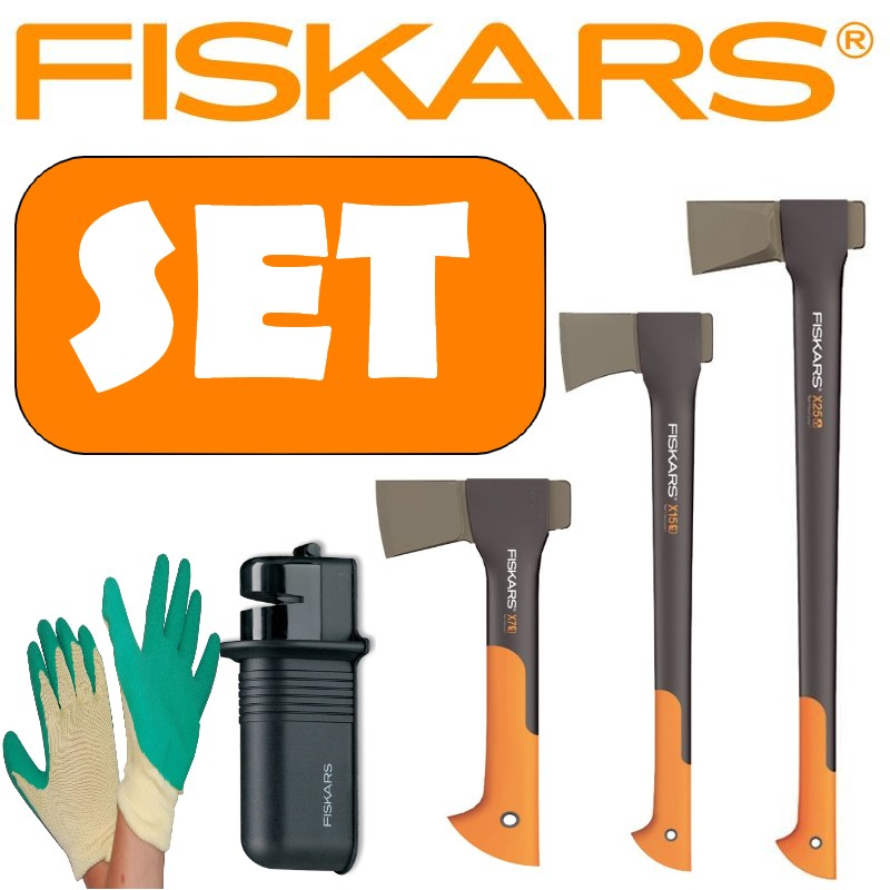 fiskars set spaltaxt x25 axt x7 axt x15 sch rfer ebay. Black Bedroom Furniture Sets. Home Design Ideas