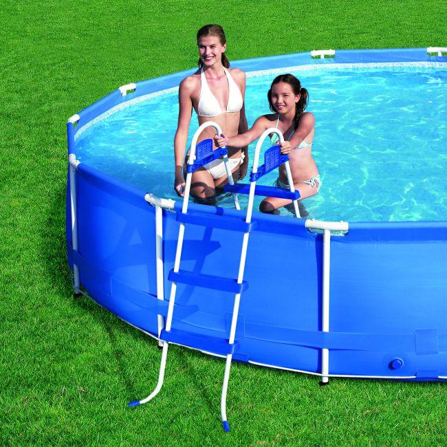 leiter poolleiter f r quick up pool bis 91 cm h he ebay. Black Bedroom Furniture Sets. Home Design Ideas