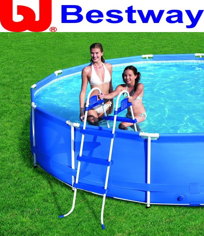 bestway pool leiter 91 cm poolleiter f quick up pool frame pool swimmingpool ebay. Black Bedroom Furniture Sets. Home Design Ideas