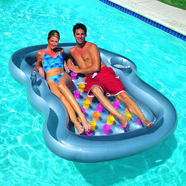 bestway doppel luftmatratze schwimmliege 43045 neu pool lounge ebay. Black Bedroom Furniture Sets. Home Design Ideas