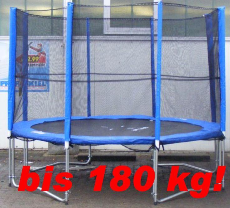 gigajump xxl set trampolin 305 cm mit netz bis 180 kg ebay. Black Bedroom Furniture Sets. Home Design Ideas